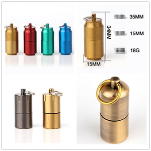 Wholesale Cans Gasoline Lighter Capsule Kerosene Lighter Inflated Keychain Oil Grinding Wheel Lighters Styles Choose For Kitchen Camping Smoking Hot