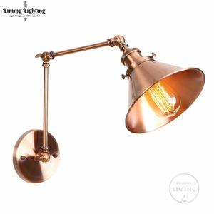 American Loft Wall Lamp Wall Lights Sconce Long Swing Arm Adjustable Retro Loft Metal Led Home Lighting For Bedroom Restaurant