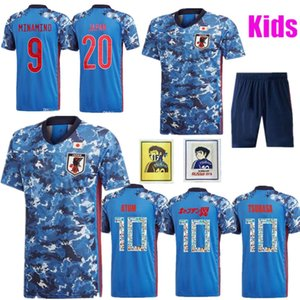 Wholesale MAN KIDS Japan Soccer Jersey home HONDA KAGAWA OKAZAKI Men football uniforms ATOM camisa de futebol Cartoon font patch
