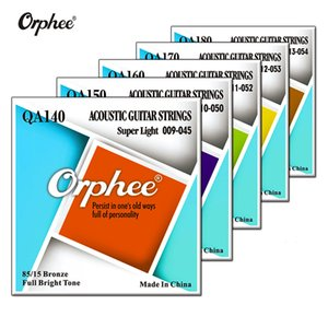 Wholesale Orphee Acoustic Guitar Strings High Quality QA Series Medium Super Light Extra Light Bronze Color End Ball Accessories