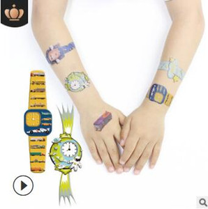 Wholesale Childen Cartoon Watches Pro environment Stickers Toy Car Mix Styles Water proof Temporary Tattoos Tattoos Body Art HA223