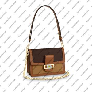 M44391 DAUPHINE MM Clutch Canvas messenger women Genuine leather designer purse crossbody shoulder bag handbag