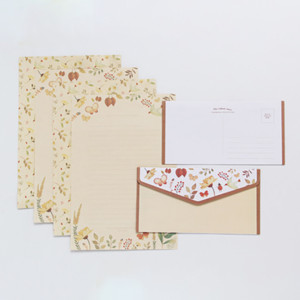 Wholesale 9 Lovely Floral Pattern Envelope Postcard Wedding Invitation Card Paper Bag Wages Letter Paper Cover Office Stationery