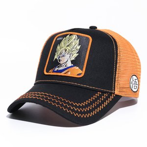 Wholesale Anime Baseball Caps Youth Mens Womens Visors Summer Mesh Sun Hats Embroidery Dragon Ball Casual Cap GOKU VEGETA Fashion Ball Hat