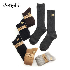 Wholesale Men s Big size Super thick lambs wool socks high quality classic business brand socks men s casual winter pairs