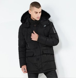 Wholesale Mens Long Coats Designer Down Jackets Winter Autumn Black Hooded with Fake Fur Warm Thick Down Coats