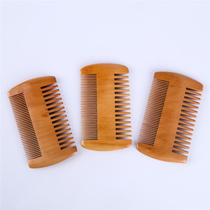 Wholesale double wood hair combs for sale - Group buy Pocket wood comb double sided ultra narrow narrow mahogany anti static health massage hair comb can be customized logo sz150