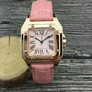 Wholesale Hot Sale Pink Dial Fashion Lady Watches Luxury Women Watch Leather Rose Gold Stainless Steel Bracelet Wristwatches Brand Female Clock