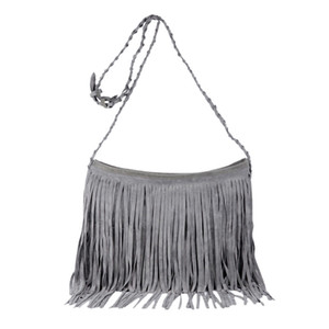 Wholesale Women s Fringed Bucket Purse Tassel Faux Suede Shoulder Bag Shoulder Bag Messenger Across Body New Fashion