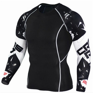 Trends T-shirt Wolf 3D Printed Compression Men Fitness Workout Running Shirt Breathable Long Sleeve Sport Rashgard New Gym Cycling Clothing