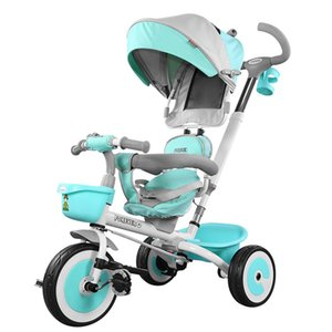 Wholesale Portable folding bike baby bicycle baby car children s bicycles three wheels stroller free inflatable artifact babystroller