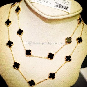 20pcs flower pendant necklace Top quality brass material Necklace in nature stone women jewelry brand PS5101 on Sale