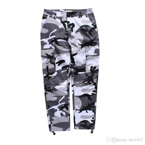 Camouflage Men's Cargo Pants Full Length 2017 Spring Multy Camo Hip Hop Pants Men Women Streetwear Toursers Men 8 Colors
