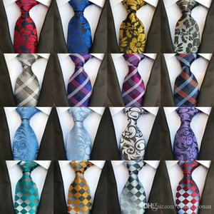 295 Styles 8cm Men Ties Fashion Classic Neckties Handmade Wedding Ties Silk Paisley Neck Tie Stripes Plaids Dots Men's Business Ties
