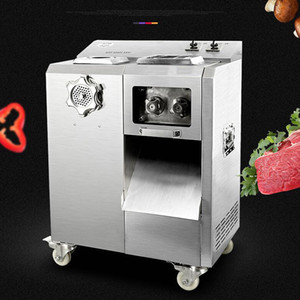 Wholesale vertical cutting machine resale online - Large Kitchen vertical meat slicer machine slicer multi function meat cutting machine automatic removable knife group meat cutter machine