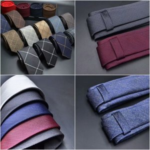 Wholesale wool ties for men women acrylic blended Striped Dotted Solid Plaid Quality Cravats Gravatas Wedding Party Leisure and Anniversary