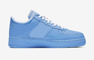 2019 Hottest Authentic Air Force1 1 Low MCA Blue White Red Metallic Silver Off Men Women Running Shoes Sports Sneakers CI1173-400