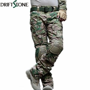 Wholesale Camouflage Military Tactical Pants Army Military Uniform Trousers Airsoft Paintball Combat Cargo Pants With Knee Pads T200219