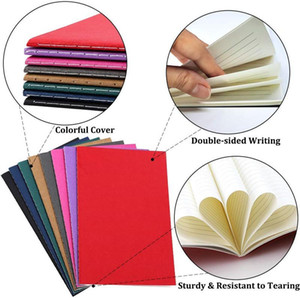 Wholesale paper a5 size resale online - Colorful Notebook Lined Paper Travel Journals Notebooks A5 Size Sheets Stationery for Travelers Students and Office