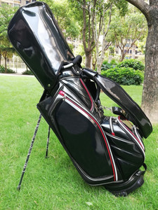 """golf stand bag brand PU black Golf Bags 9"""" in 5 dividers"""