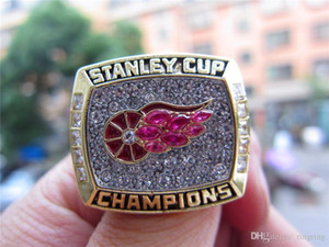 Wholesale Pay4U Drop Shipping Detroit Red Wings Stanley Cup Championship Ring Fan Men Gift