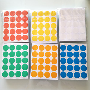 Wholesale 24000 Diameter mm Colorful round paper sticker white yellow red green blue orange Item No OF23