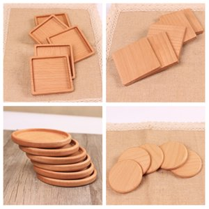 Wholesale Wood Coasters Wooden Wooden Heat Insulated Pad Tea Cup Pads Insulated Drinking Mats Teapot Table mat cup holder T2I5297