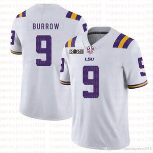 futebol lsu venda por atacado-LSU Tigres Burreaux Futebol Jersey Diamante Patch Peach Bowl Playoff College Joe Burrow Nickname Beckham Delpit Mathieu Chase