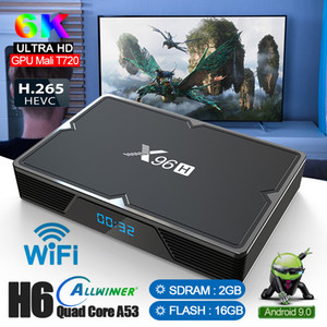 wifi горячий оптовых-Hot X96H Allwinner H603 CHIP K Android TV Box с Dual HD поддержкой YouTube WiFi Bluetooth Set Top Box PK X96MINI