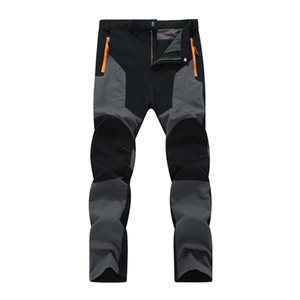 брюки для походов оптовых-Oversized Men Hiking pants Waterproof Outdoor Pants Soft shell Trousers Camp Fish Trekking Climb Hiking Sport Travel Training