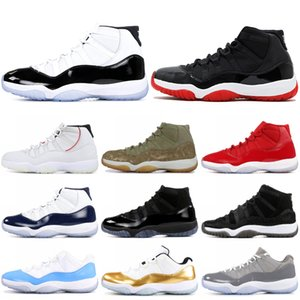 11 XI Mens Basketball Shoes High Concord Heiress Platinum Tint Space Jam Low UNC 11s Designer Sneakers Sport Shoes US 5.5-13