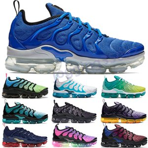 Wholesale Plus TN Game royal racer blue aurora green mens running shoes white blue lemon lime spirit teal grid print olympic womens dsigner trainers