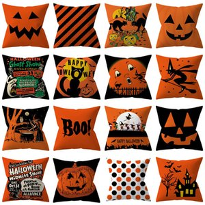 Wholesale 32 Styles Halloween Pillowcases Cover Throw Pillow Cushion Pillow Case Cover For Striped Dot Home Car Decoration Christmas HH9