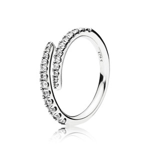 Wholesale New arrival CZ Diamond Wedding Rings sets Original Box for Pandora Sterling Silver Shooting Star Ring Women luxury designer jewelry