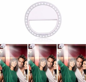 Wholesale Portable LED Selfie Ring Light For iPhone For Xiaomi For Samsung Huawei Portable Flash Camera cell Phone Case Cover Photography Enhancing