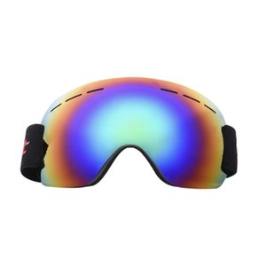 Wholesale Winter Frameless Ski Snowboard Large Spherical Goggles Men Women Windproof Anti Fog UV Protection With Elastic Head Band Glasses