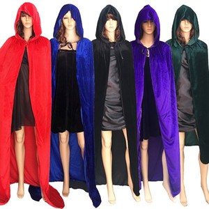 Wholesale Hooded Cloak Adult Halloween Party Cosplay Clothing Long Cloak Death Big Costume Cosplay Devil Cloak Sherpa Fleece Cape Blanket YFA456