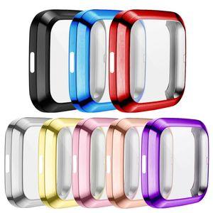 For Fitbit Versa 2 Watch Super-lightweight Case Slim TPU Full Screen Protector Protect Bumper Frame Cover