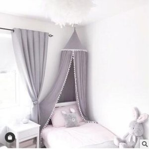 Wholesale Cotton Baby Canopy Mosquito Net Anti Mosquito Princess Bed Canopy Girls Room Decoration Bed Canopy Pest control Reject Net