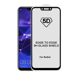 Wholesale 5D Full Cover H Tempered Glass Screen Protector For Xiaomi SE lite redmi note pro Mix Max