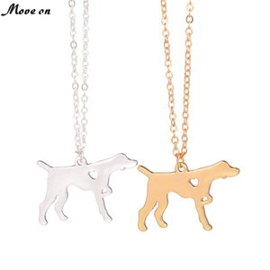 ingrosso regali amante dei cani-Fashion Gold Silver German Short Haired Pointer Dog Collana Dog Breed Memorial Pet Lover Regalo amanti puntatore inglese