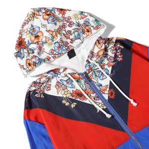 Designer Men Women Brand Wind Coat Windbreak Luxury Floral Blue Yellow Color Designer Fashion Cool Men Women Windbreak Size From M To 2XL