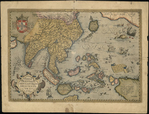 Wholesale canvas map wall for sale - Group buy South East Asia by Abraham Ortelius Vintage Old Antique Map Canvas Print Home Wall Art Oil Painting On Canvas Wall Art Canvas Pictures