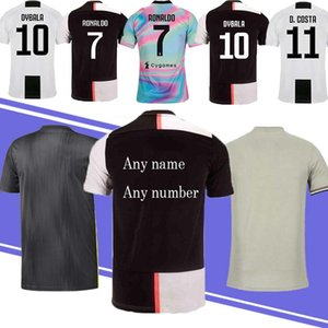 Wholesale 19 20 New Thailand Juventus 18 19 Della juvent Soccer Jersey 7 RONALDO 11 D.COSDR 10 DYBALR 9 HIGUAIN Cheap and Fine