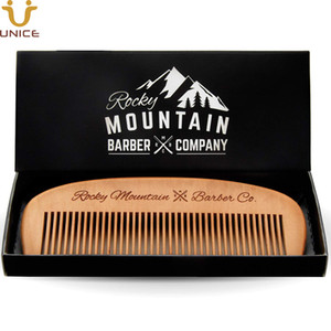 50pcs lot Amazon Hot Sale Hair Comb - Wood with Anti-Static & No Snag Handmade Brush for Beard, Head Hair, Mustache