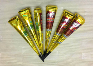 Henna Tattoo Paste Tube Cone Body Art Paint Makeup DIY Drawing Indian Henna Tattoo Paste Cone Waterproof Black or Brown