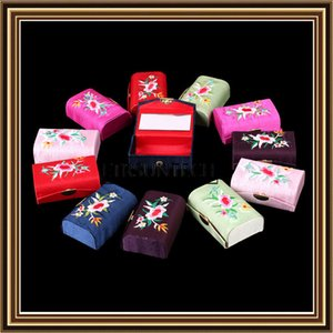 120pcs Flower Design Vintage Lipstick Case Box with Mirror Button Cosmetic Bags Coin Lipstick Holder Jewelry Box