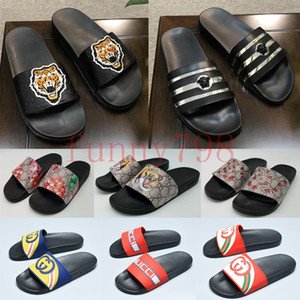 high Luxury Designer Slippers Ace embroidered sandals fashion Bee Stripe Men slides Women Casual pool chaussures sneakers flip flop shoes on Sale