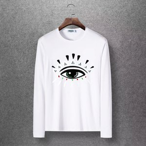 Wholesale Men sweaters Men s designer clothing Autumn and winter personality Hip hop style Tribal human eye embroidery Fashion round neck design shirt