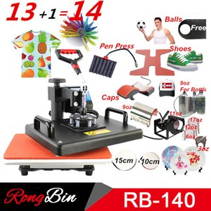 Wholesale 13 in Heat press Machine Sublimation pen press machine Heat Transfer Machine for ball Shoes Cap Mug Plate Tshirt phone case